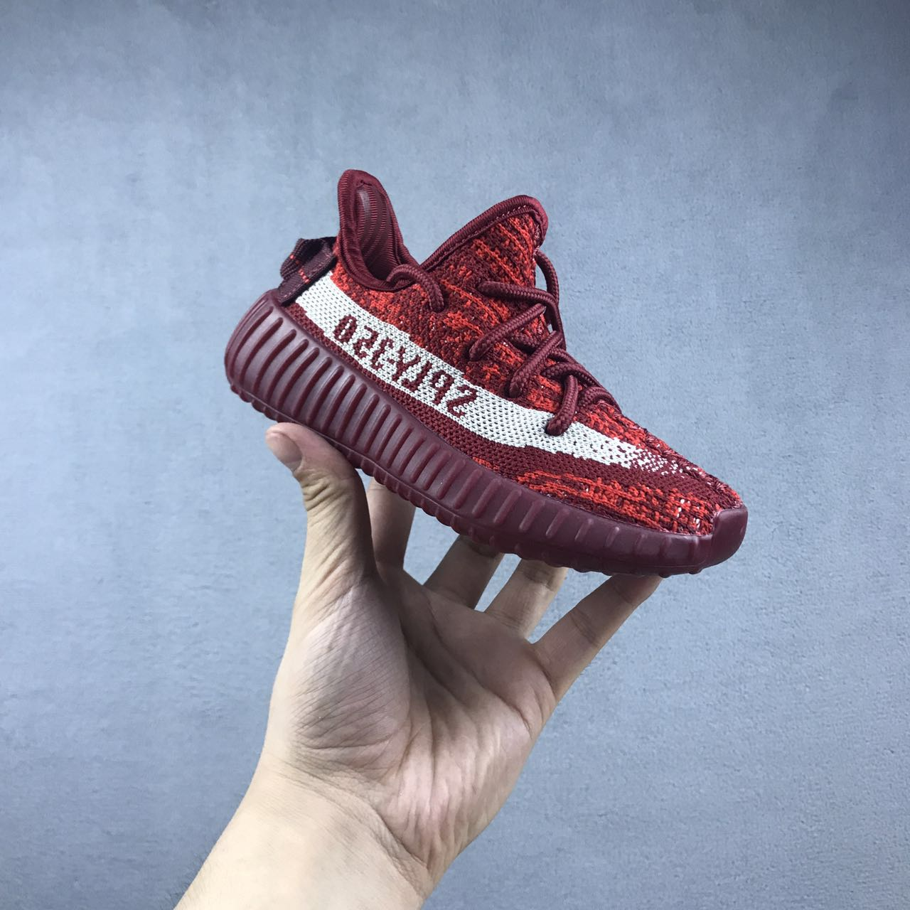 New Kids Yeezy Boost 350 red-white