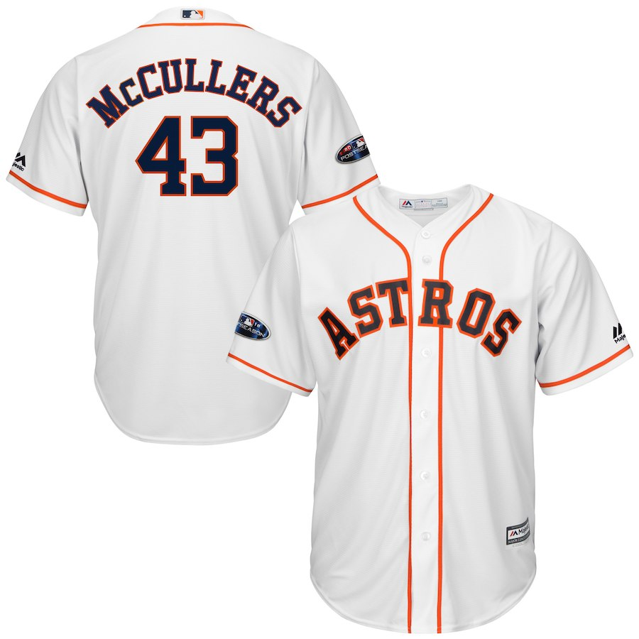 Men's Houston Astros Lance McCullers Jr. White 2018 Postseason Home Cool Base Player Jersey