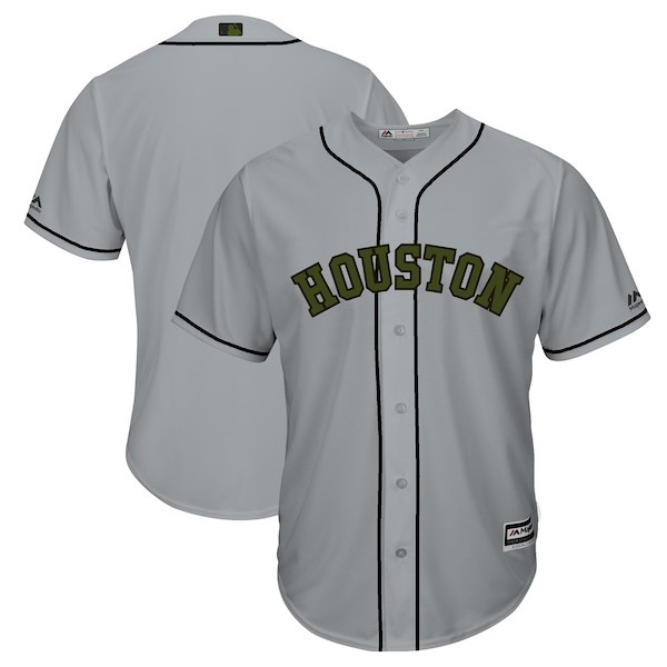 Houston Astros 2018 Memorial Day Cool Base Team Jersey - Gray