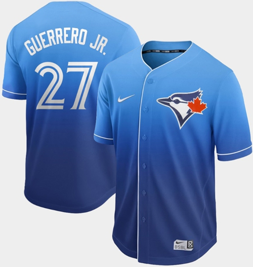 Nike Blue Jays #27 Vladimir Guerrero Jr. Royal Fade Authentic Stitched MLB Jersey