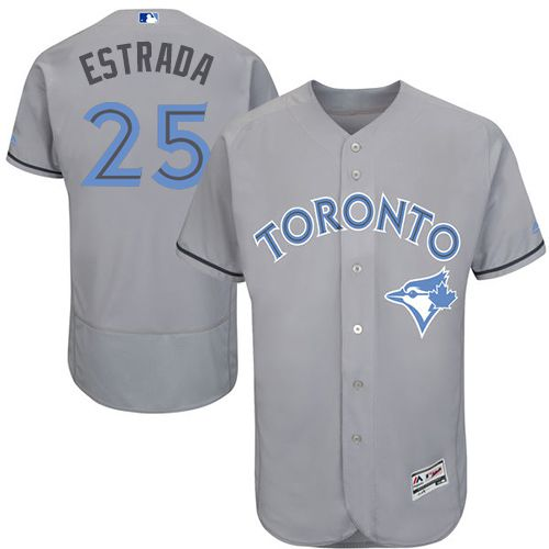 Blue Jays #25 Marco Estrada Grey Flexbase Authentic Collection Father's Day Stitched MLB Jersey