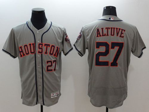 Astros #27 Jose Altuve Grey Flexbase Authentic Collection Stitched MLB Jersey