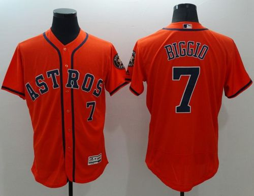 Astros #7 Craig Biggio Orange Flexbase Authentic Collection Stitched MLB Jersey