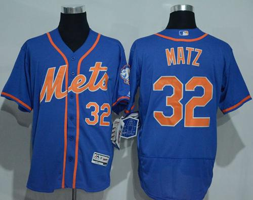 Mets #32 Steven Matz Blue Flexbase Authentic Collection Stitched MLB Jersey