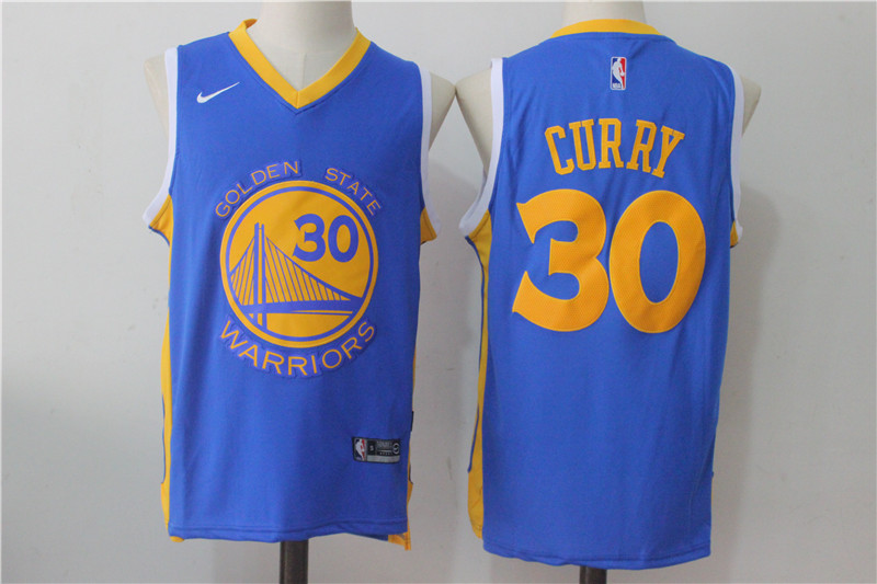 Men's Nike Golden State Warriors #30 Stephen Curry Royal Nike Road Stitched NBA Jersey