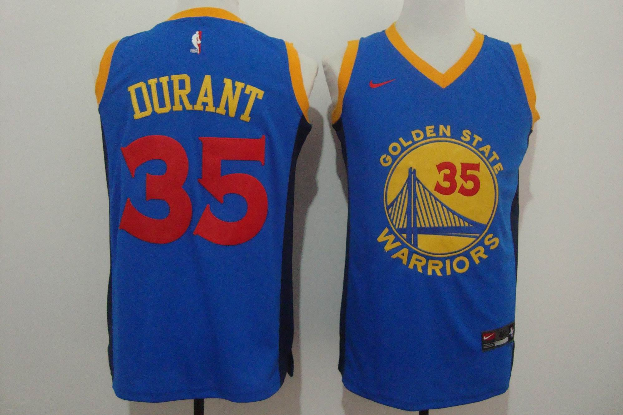 Men's Nike Golden State Warriors #35 Kevin Durant Blue New Fashi
