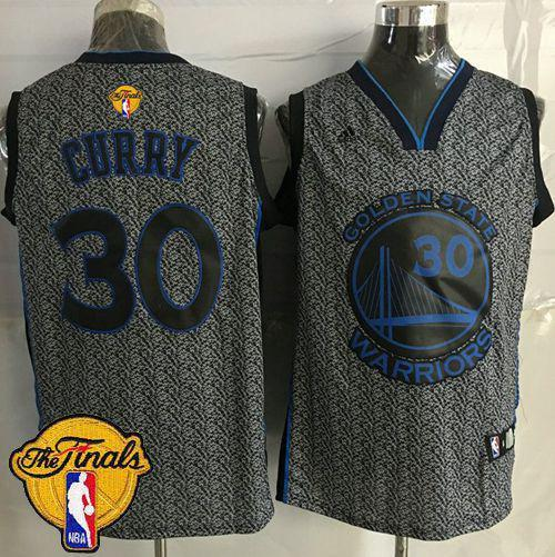 Warriors #30 Stephen Curry Grey Static Fashion The Finals Patch Stitched NBA Jersey