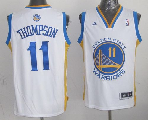 Revolution 30 Warriors #11 Klay Thompson White Stitched NBA Jersey