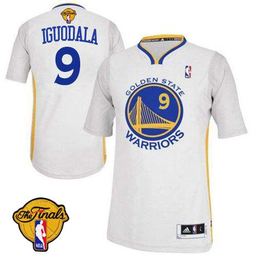 Revolution 30 Warriors #9 Andre Iguodala White Alternate The Finals Patch Stitched NBA Jersey
