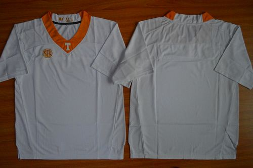 Vols Blank White Stitched NCAA Jersey
