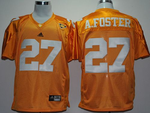 Vols #27 Arian Foster Orange With SEC Patch Stitched NCAA Jersey