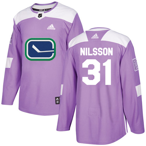 Adidas Canucks #31 Anders Nilsson Purple Authentic Fights Cancer Stitched NHL Jersey