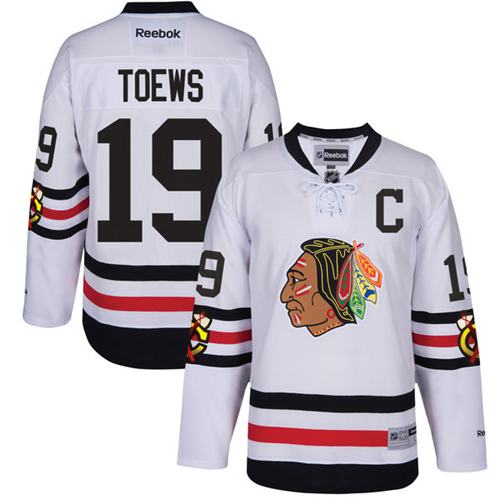 Blackhawks #19 Jonathan Toews White 2017 Winter Classic Stitched NHL Jersey