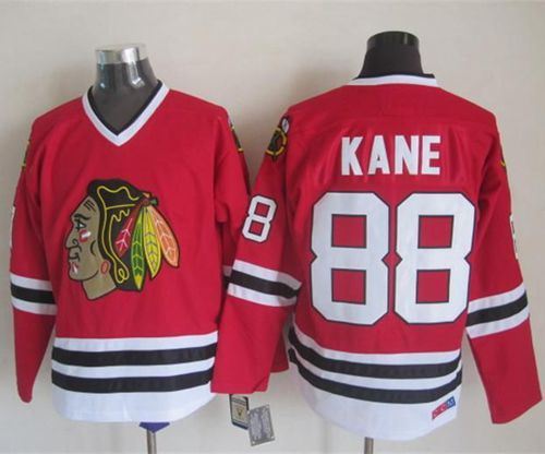 Blackhawks #88 Patrick Kane Red CCM Throwback Stitched NHL Jersey