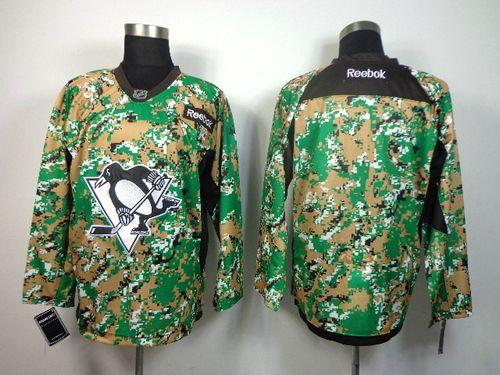Penguins Blank Camo Veterans Day Practice Stitched NHL Jersey