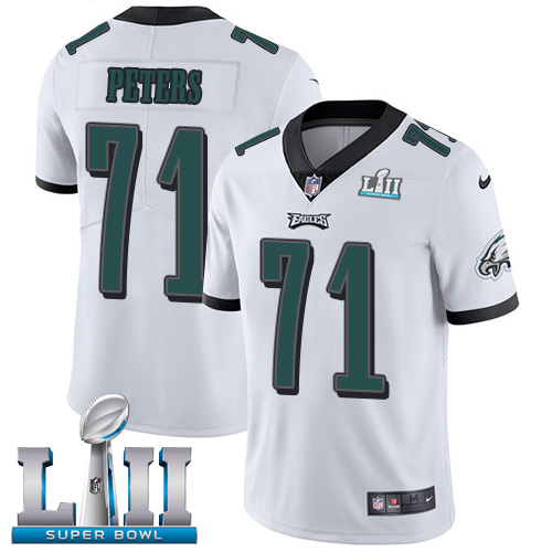 Nike Eagles #71 Jason Peters White Super Bowl LII Men's Stitched NFL Vapor Untouchable Limited Jersey