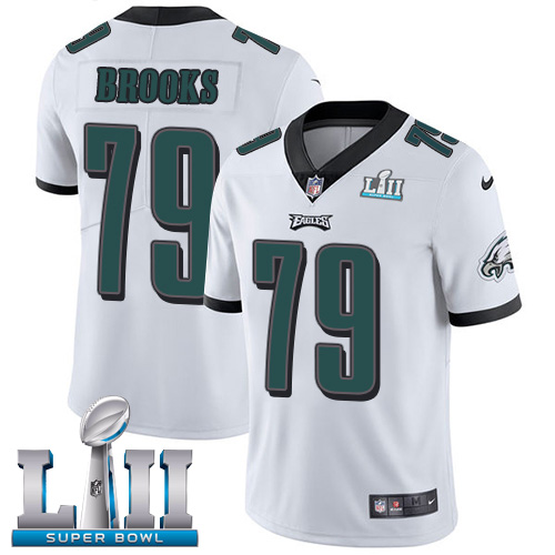 Nike Eagles #79 Brandon Brooks White Super Bowl LII Men's Stitched NFL Vapor Untouchable Limited Jersey