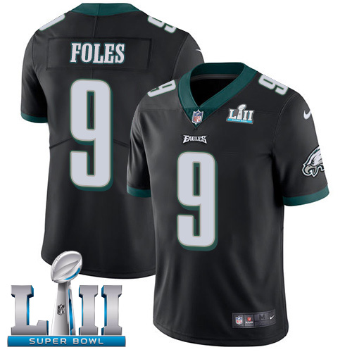 Men's Philadelphia Eagles #9 Nick Foles Black Super Bowl LII Bound Game Stitched NFL Jersey