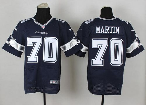Nike Cowboys #70 Zack Martin Navy Blue Team Color Men's Stitched