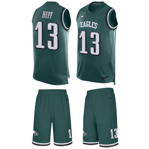 Nike Eagles #13 Josh Huff Midnight Green Team Color Men's Stitched NFL Limited Tank Top Suit Jersey