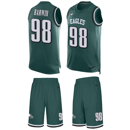Nike Eagles #98 Connor Barwin Midnight Green Team Color Men's Stitched NFL Limited Tank Top Suit Jersey