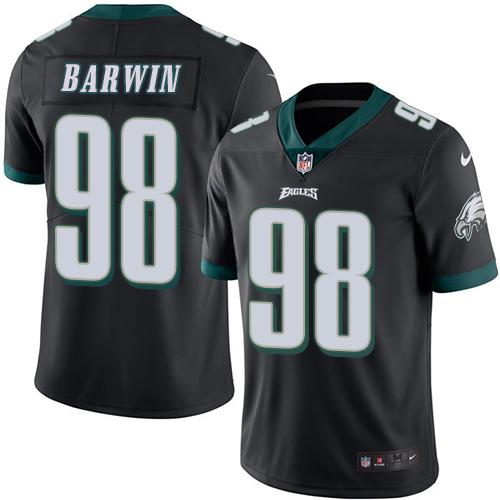 Nike Eagles #98 Connor Barwin Black Men's Stitched NFL Limited Rush Jersey