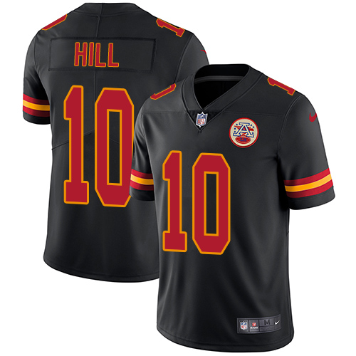 Nike Chiefs #10 Tyreek Hill Black Youth Stitched NFL Limited Rush Jersey