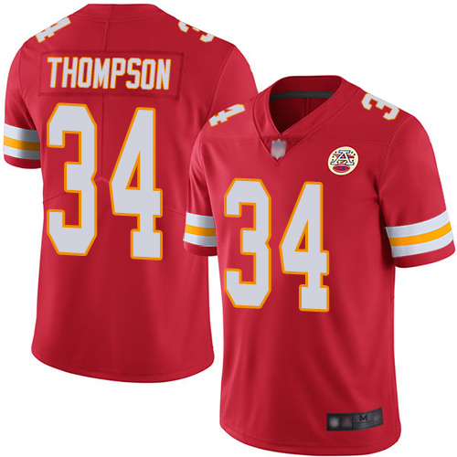 Nike Chiefs #34 Darwin Thompson Red Team Color Youth Stitched NFL Vapor Untouchable Limited Jersey