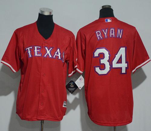 Rangers #34 Nolan Ryan Red Cool Base Stitched Youth MLB Jersey