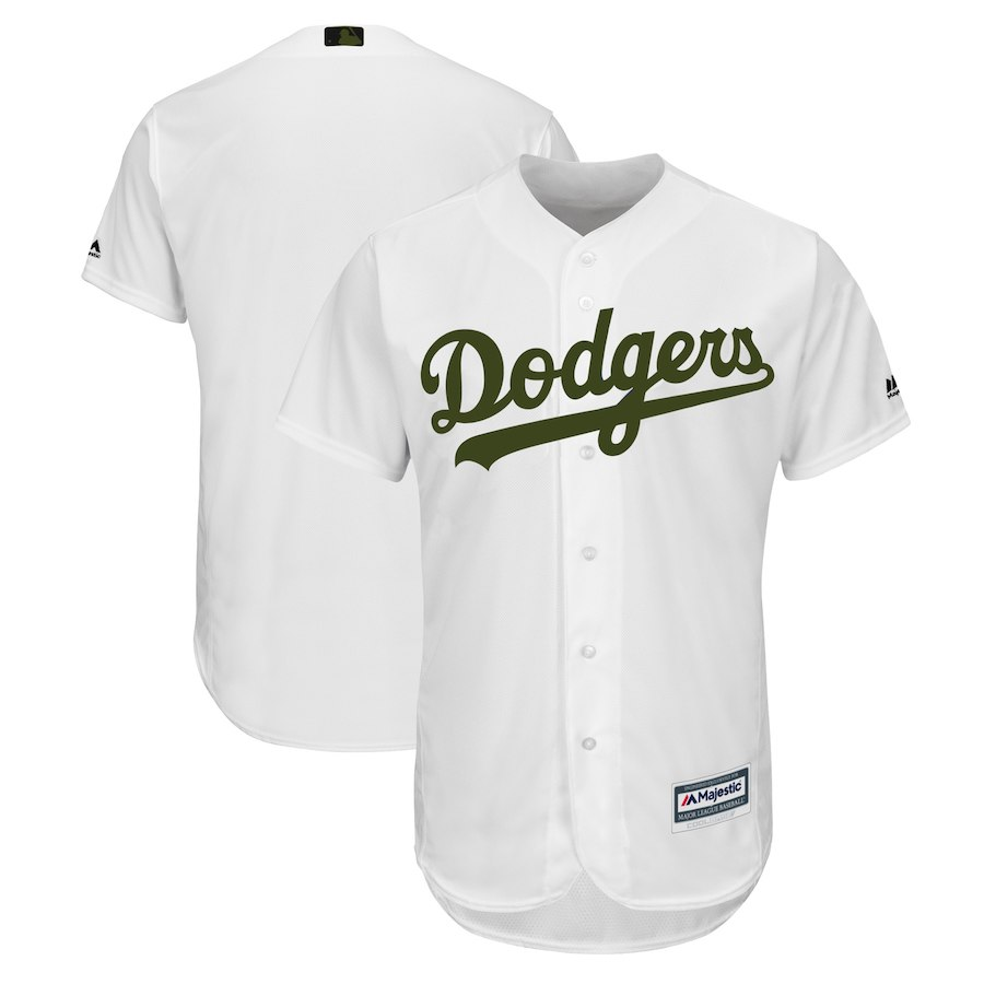 Men's Los Angeles Dodgers White 2018 Memorial Day Cool Base Team Jersey