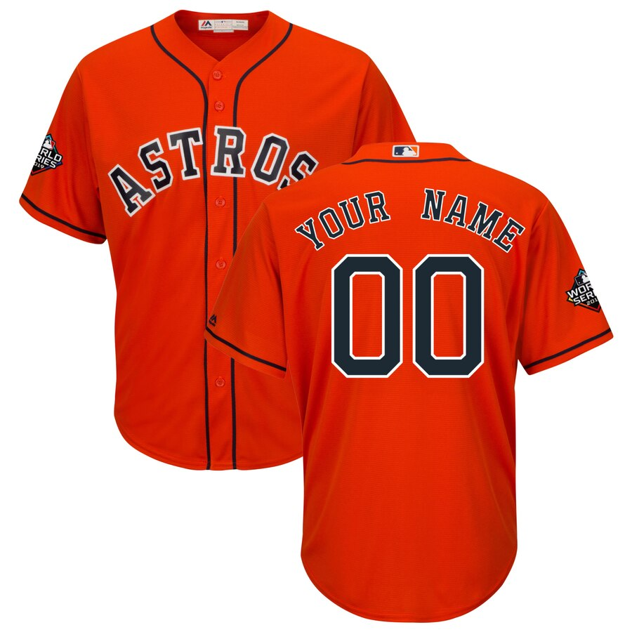 Men's Houston Astros Orange 2019 World Series Bound Official Cool Base Custom Jersey