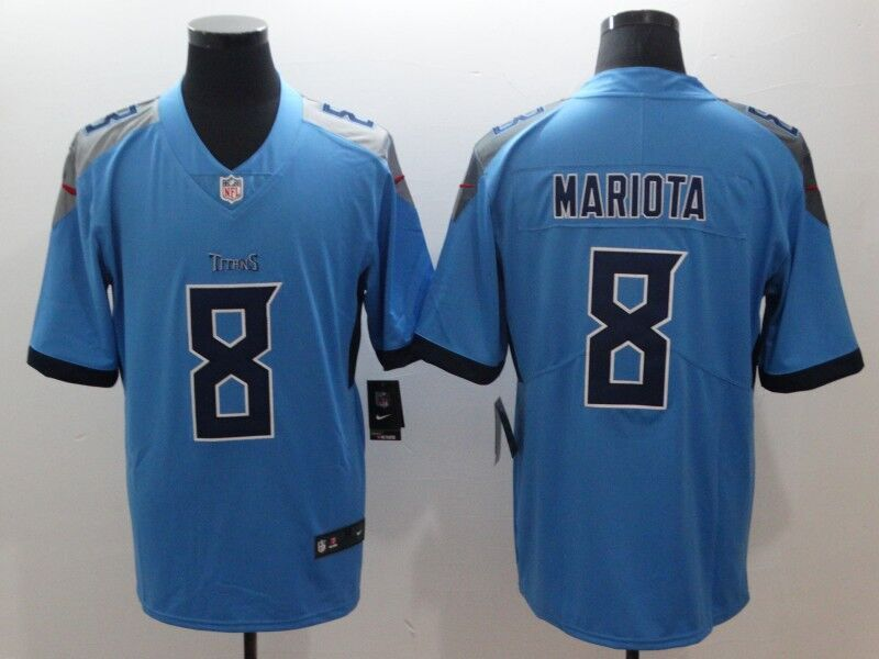 Men's Tennessee Titans Marcus Mariota Nike Light Blue New 2018 Vapor Untouchable Limited Jersey