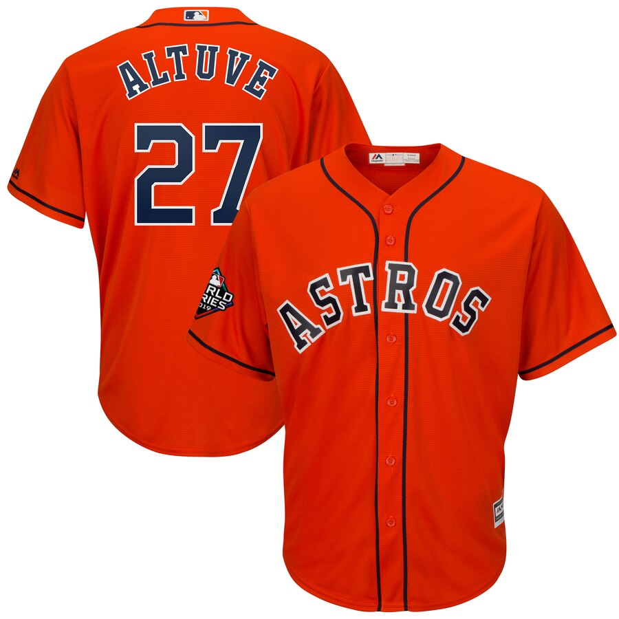 Men's Houston Astros Jose Altuve Orange 2019 World Series Bound Official Cool Base Player Jersey