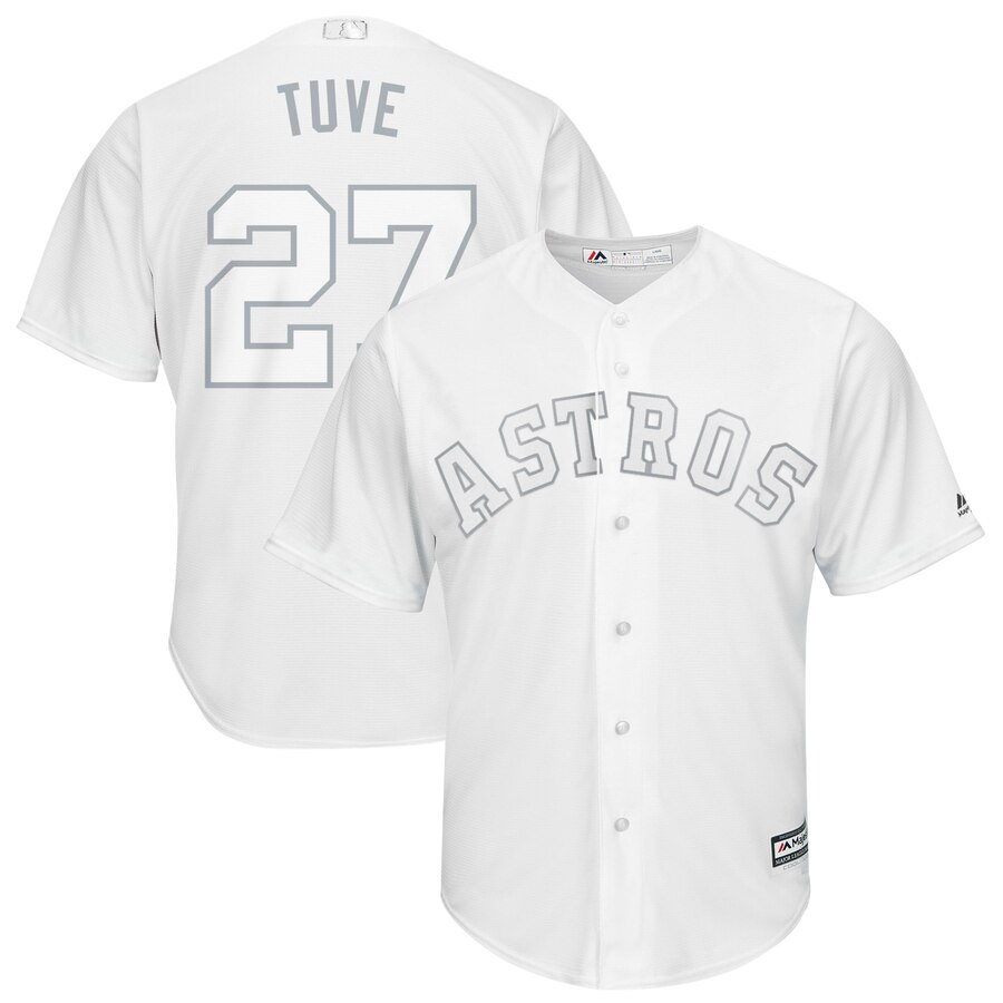 "Men's Houston Astros Jose Altuve ""Tuve"" White 2019 Players' Weekend Player Jersey"