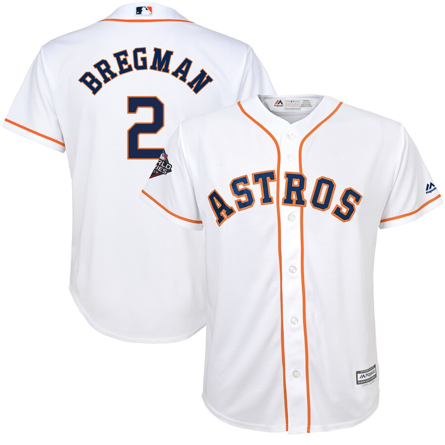 Youth Houston Astros Alex Bregman White 2019 World Series Bound Player Jersey