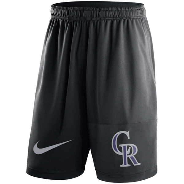 Men's Colorado Rockies Nike Black Dry Fly Shorts