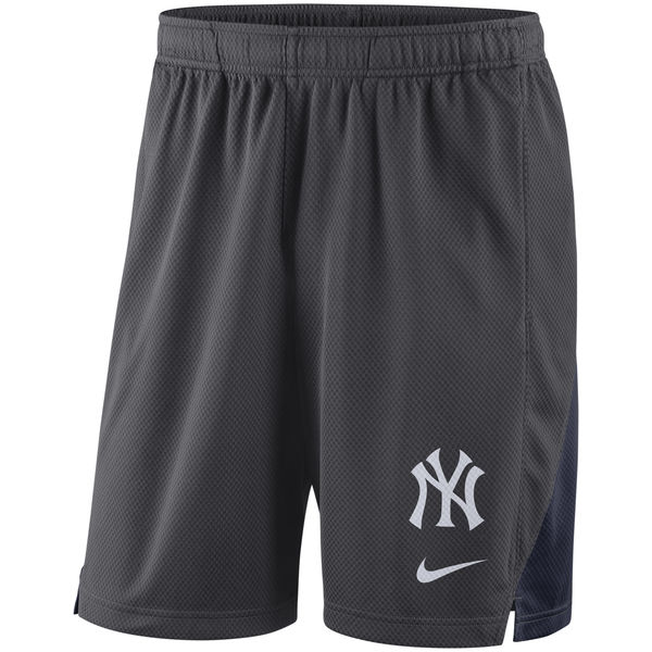 Men's New York Yankees Anthracite Franchise Performance Shorts