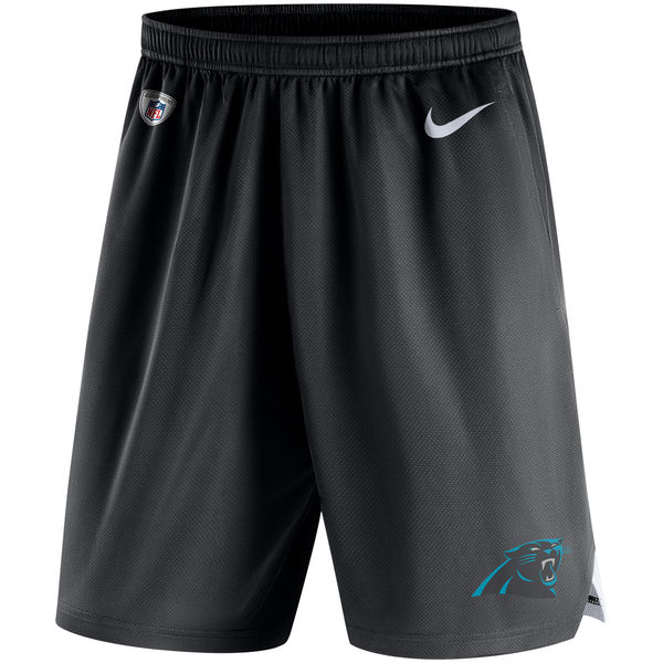 Men's Carolina Panthers Nike Black Knit Performance Shorts