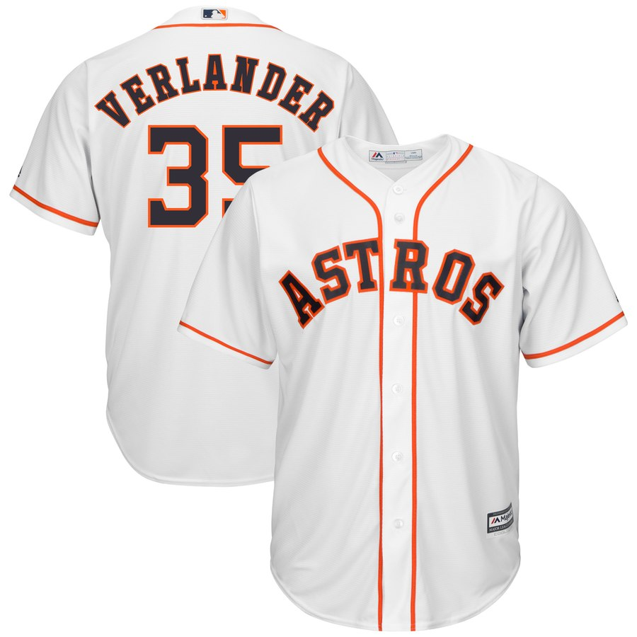 Men's Houston Astros Justin Verlander Majestic White Home Cool Base Player Jersey