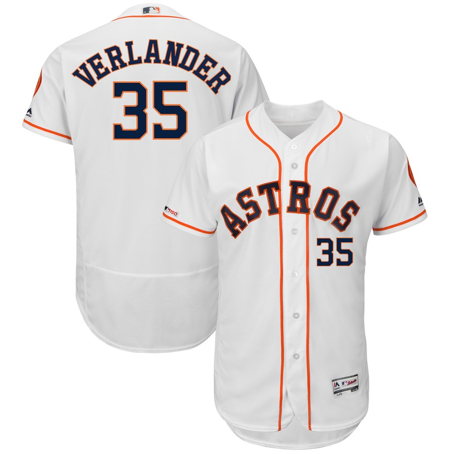 Men's Houston Astros Justin Verlander White Flex Base Collection Player Jersey