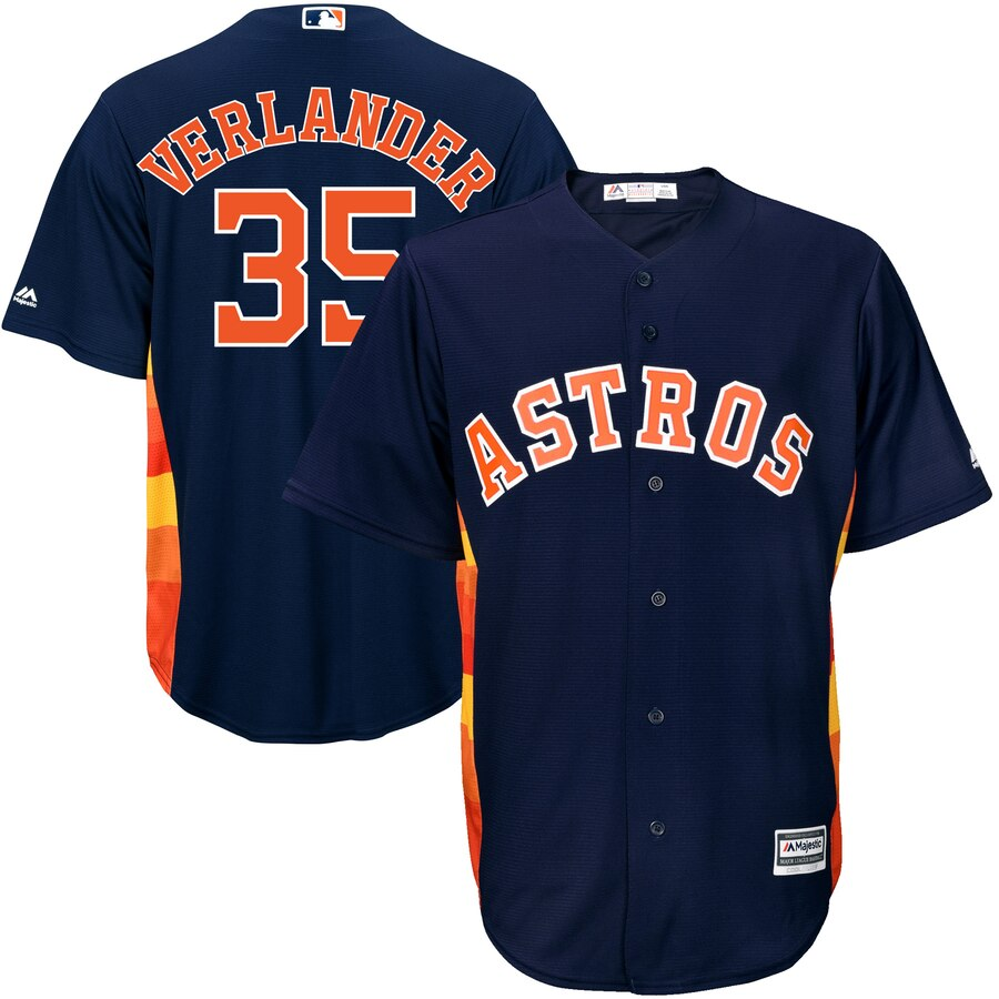 Men's Houston Astros Justin Verlander Navy Official Cool Base Player Jersey