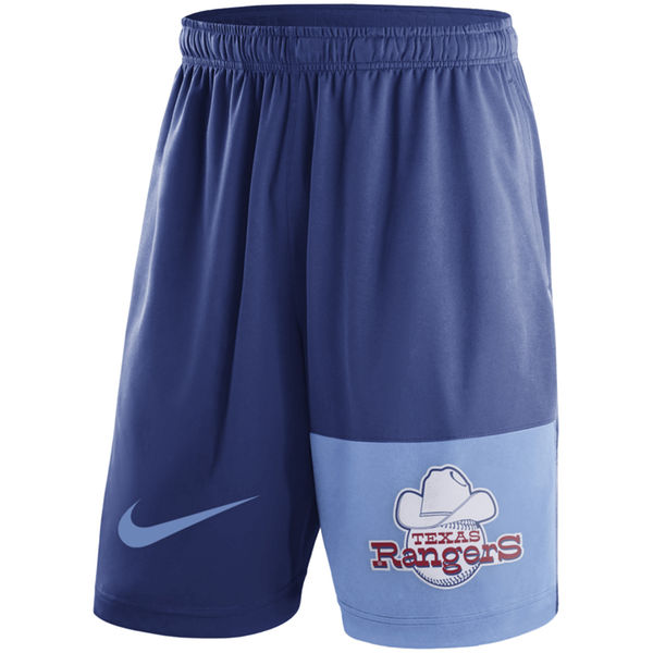 Men's Texas Rangers Nike Royal Cooperstown Collection Dry Fly Shorts