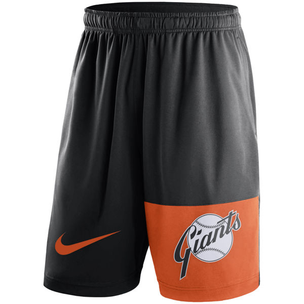 Men's San Francisco Giants Nike Black Cooperstown Collection Dry Fly Shorts