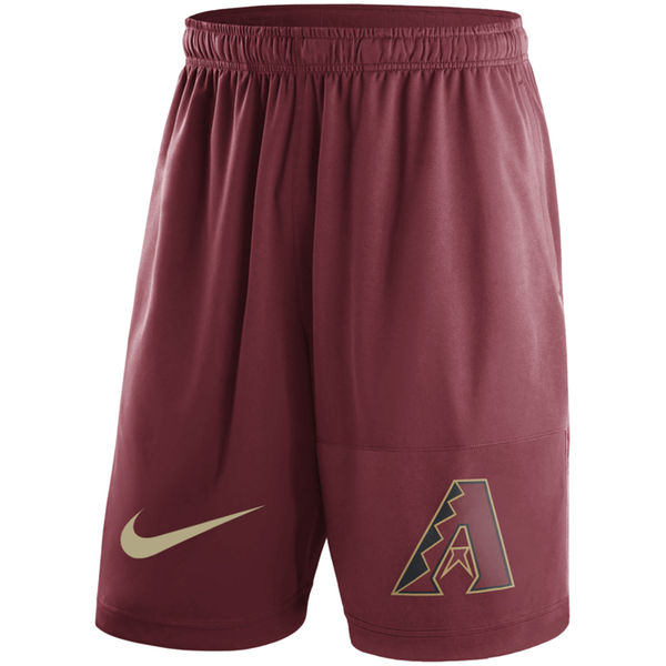 Men's Arizona Diamondbacks Nike Red Dry Fly Shorts