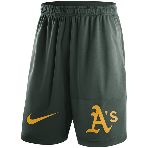 Men's Oakland Athletics Nike Green Dry Fly Shorts