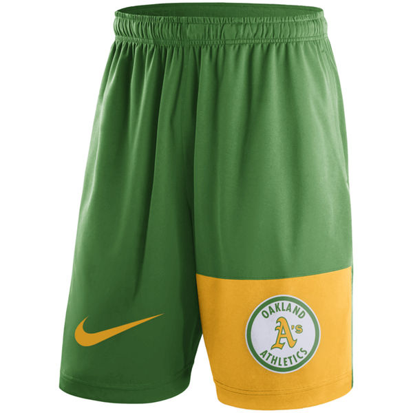 Men's Oakland Athletics Nike Green Cooperstown Collection Dry Fly Shorts