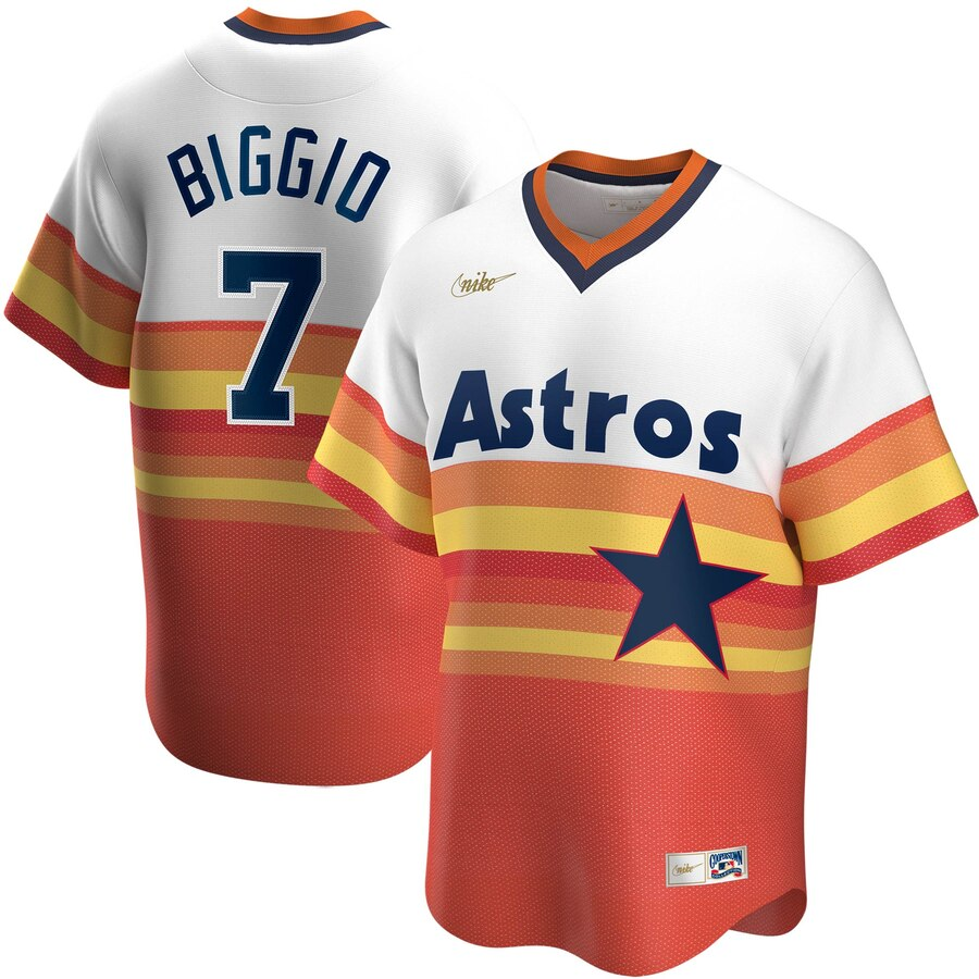 Men's Houston Astros Craig Biggio Nike White Home Cooperstown Collection Player Jersey