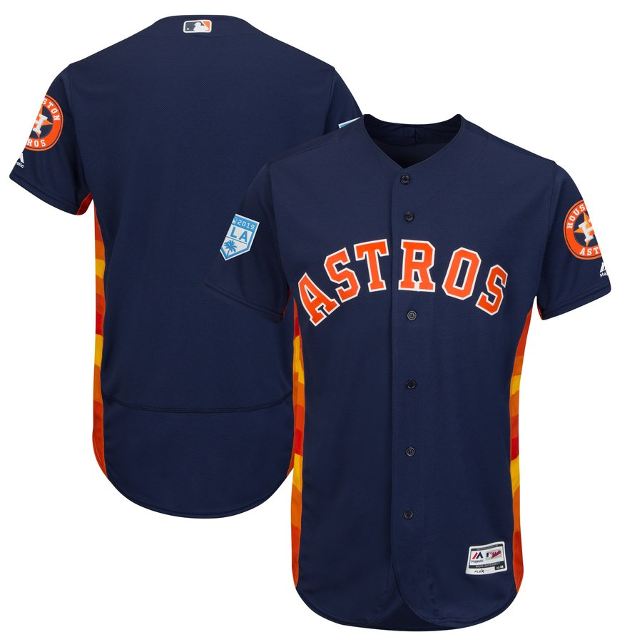 Men's Houston Astros Navy 2019 Spring Training Flex Base Team Jersey