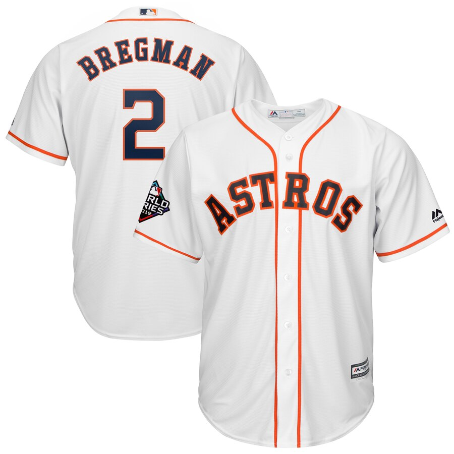 Men's Houston Astros Alex Bregman White 2019 World Series Bound Official Cool Base Player Jersey