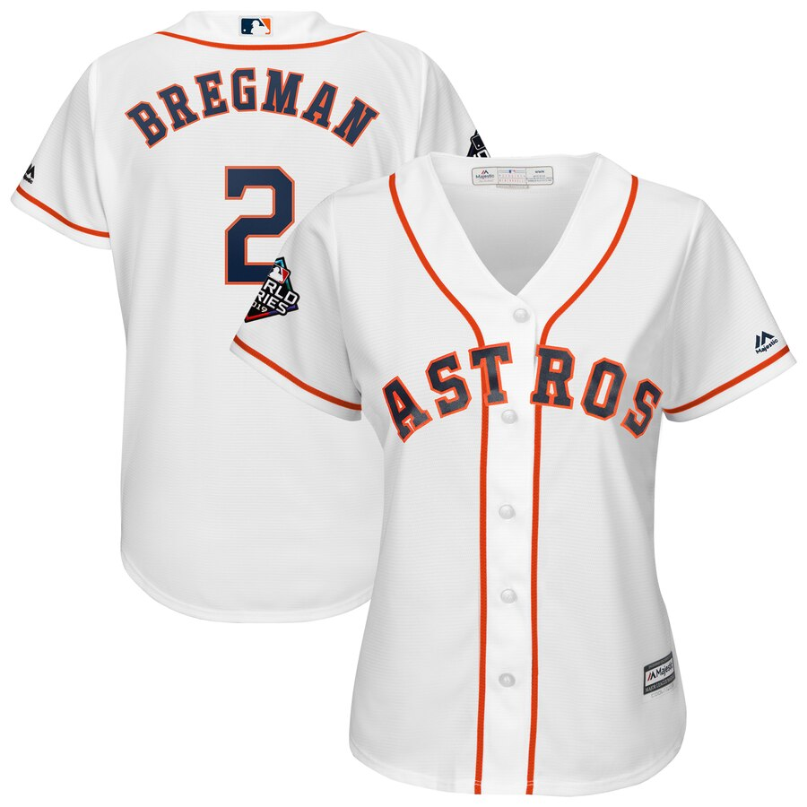 Women's Houston Astros Alex Bregman White 2019 World Series Bound Official Cool Base Player Jersey